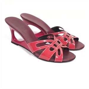 Cole Haan Pink Cutout Wedge Sandals Size 7